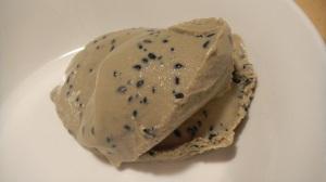 Sesame seed ice cream